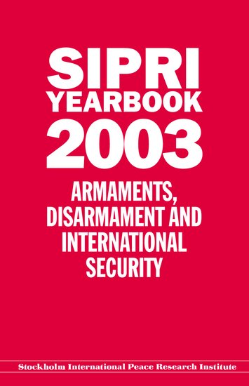 SIPRI yearbook 2003 cover