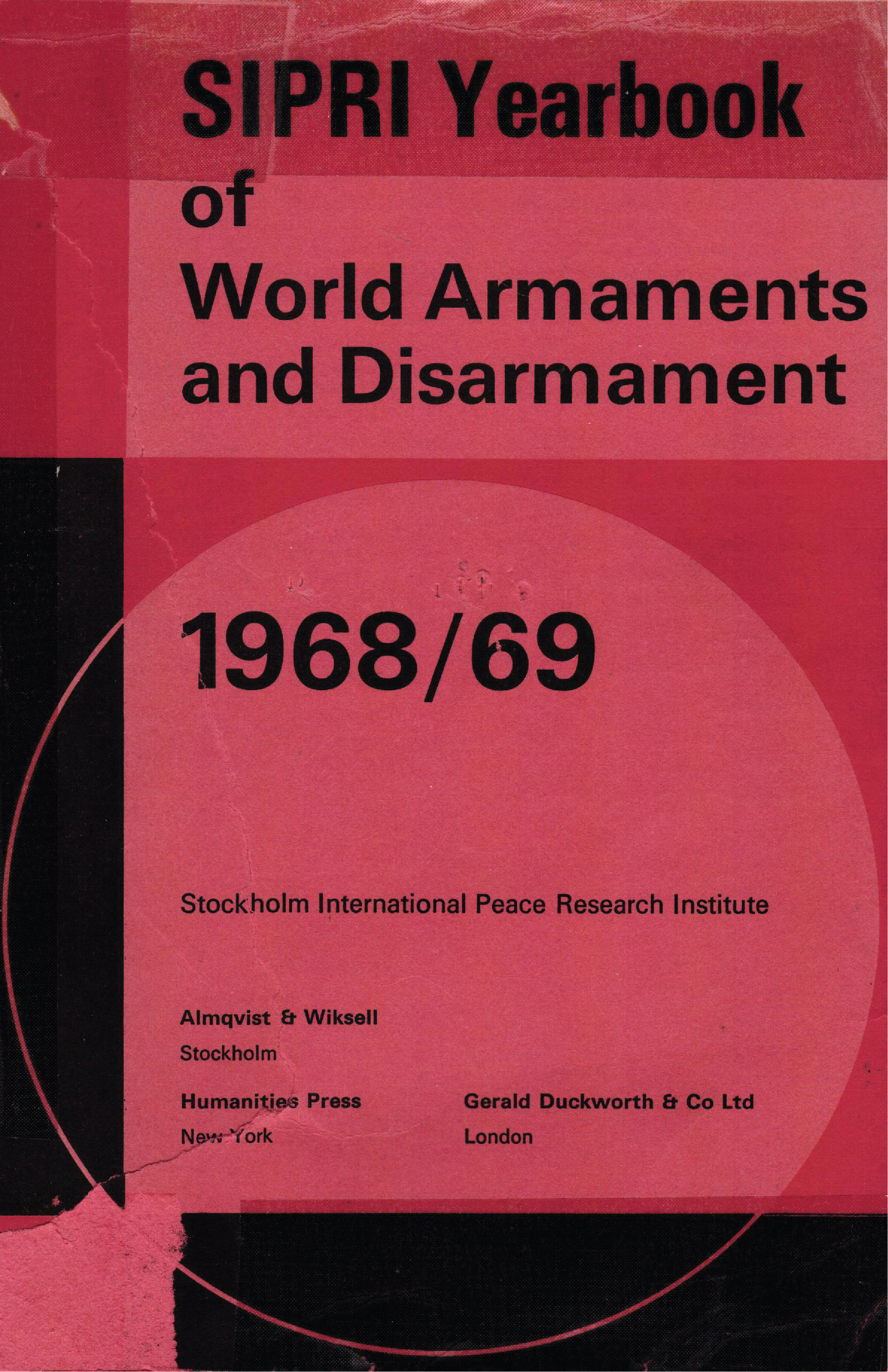 SIPRI yearbook 1968-69 cover