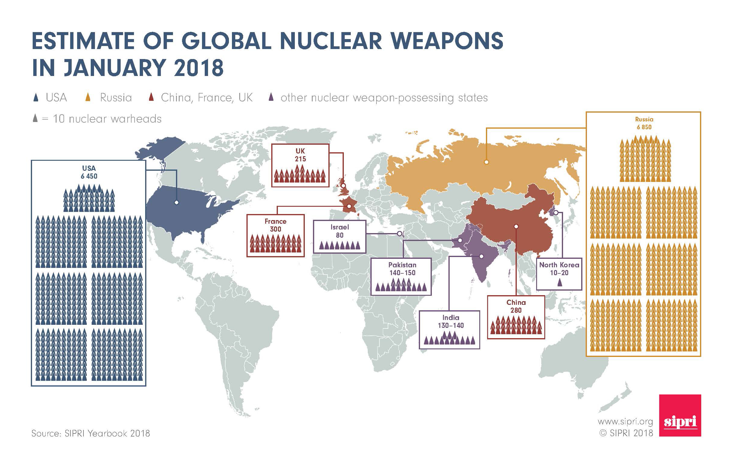 World nuclear forces: reductions remain slow as modernization continues