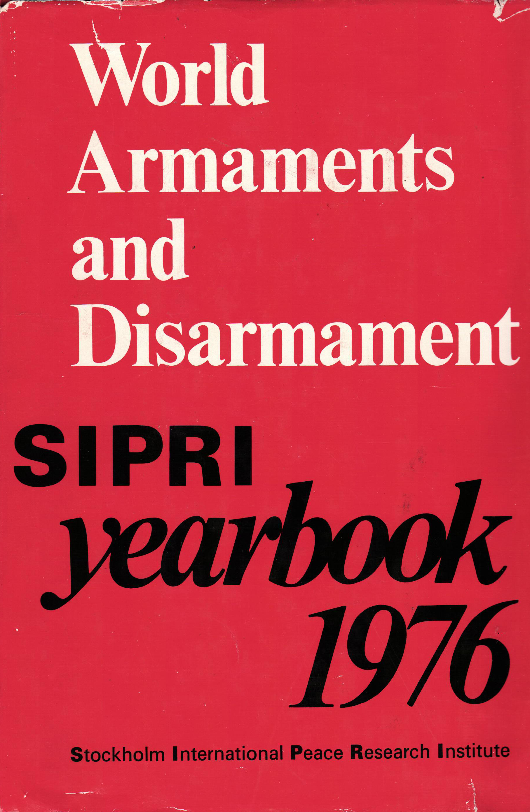 SIPRI yearbook 1976 cover