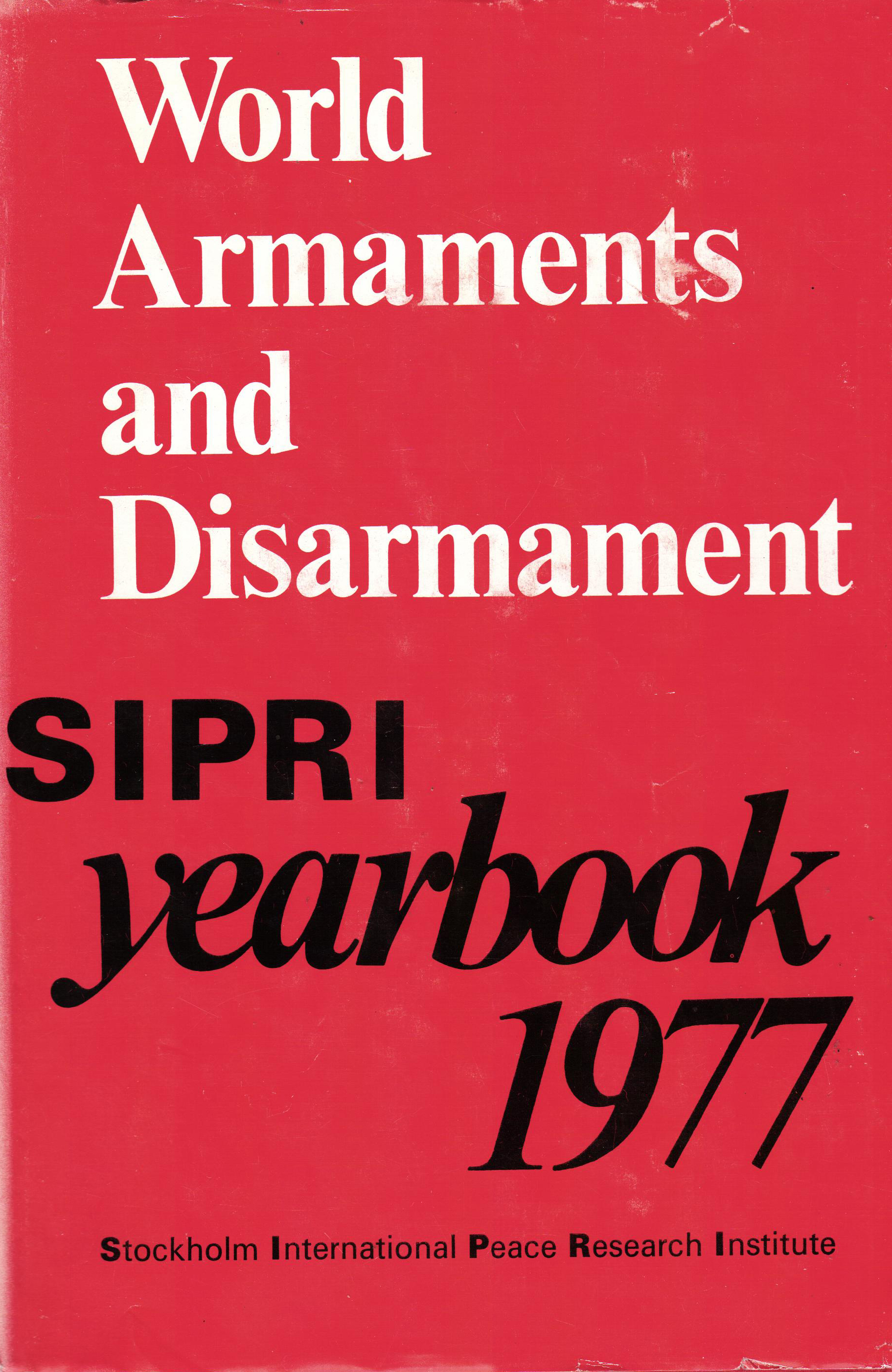SIPRI yearbook 1977 cover