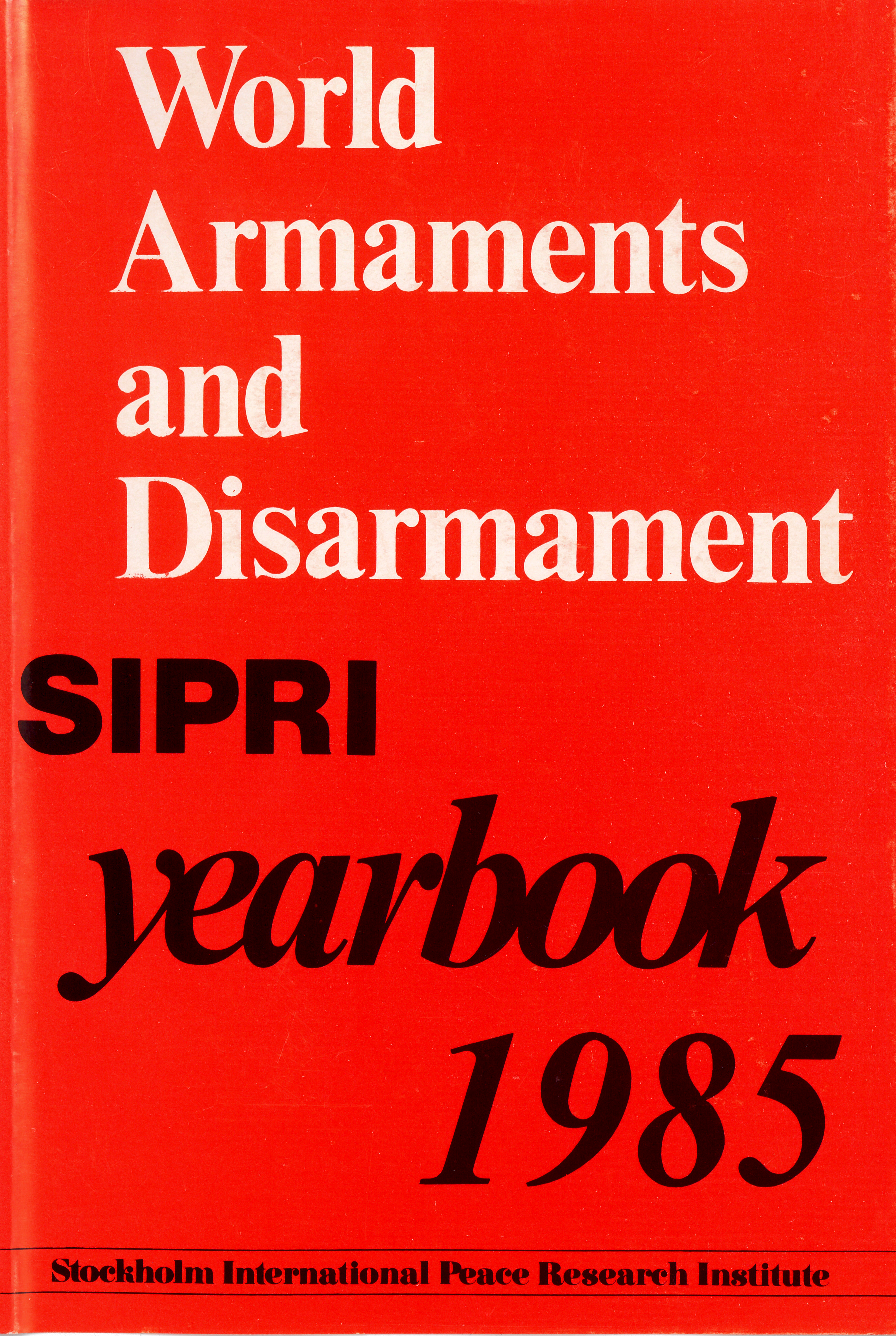 sIPRI yearbook 1985 cover