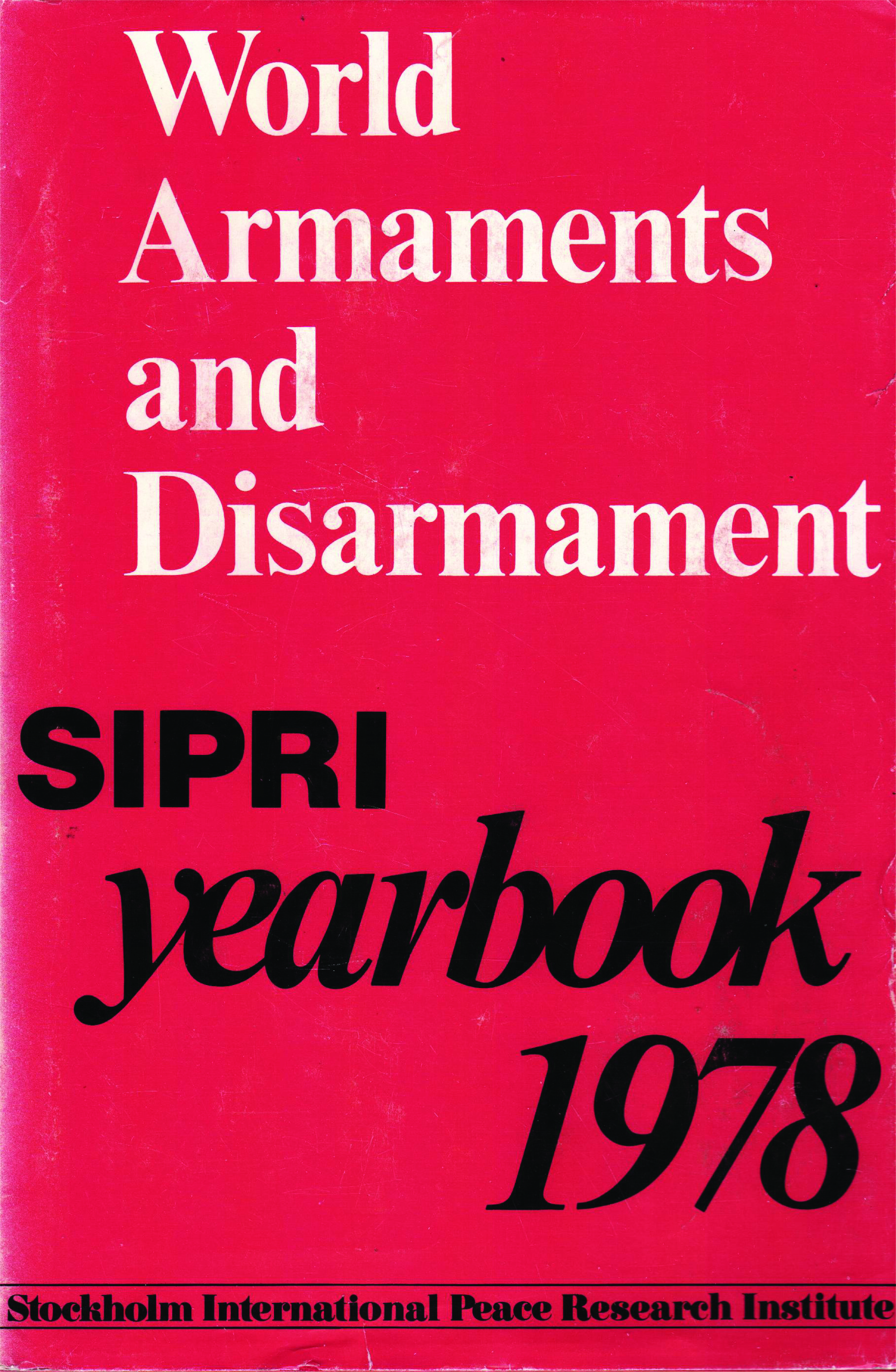 SIPRI yearbook 1978 cover