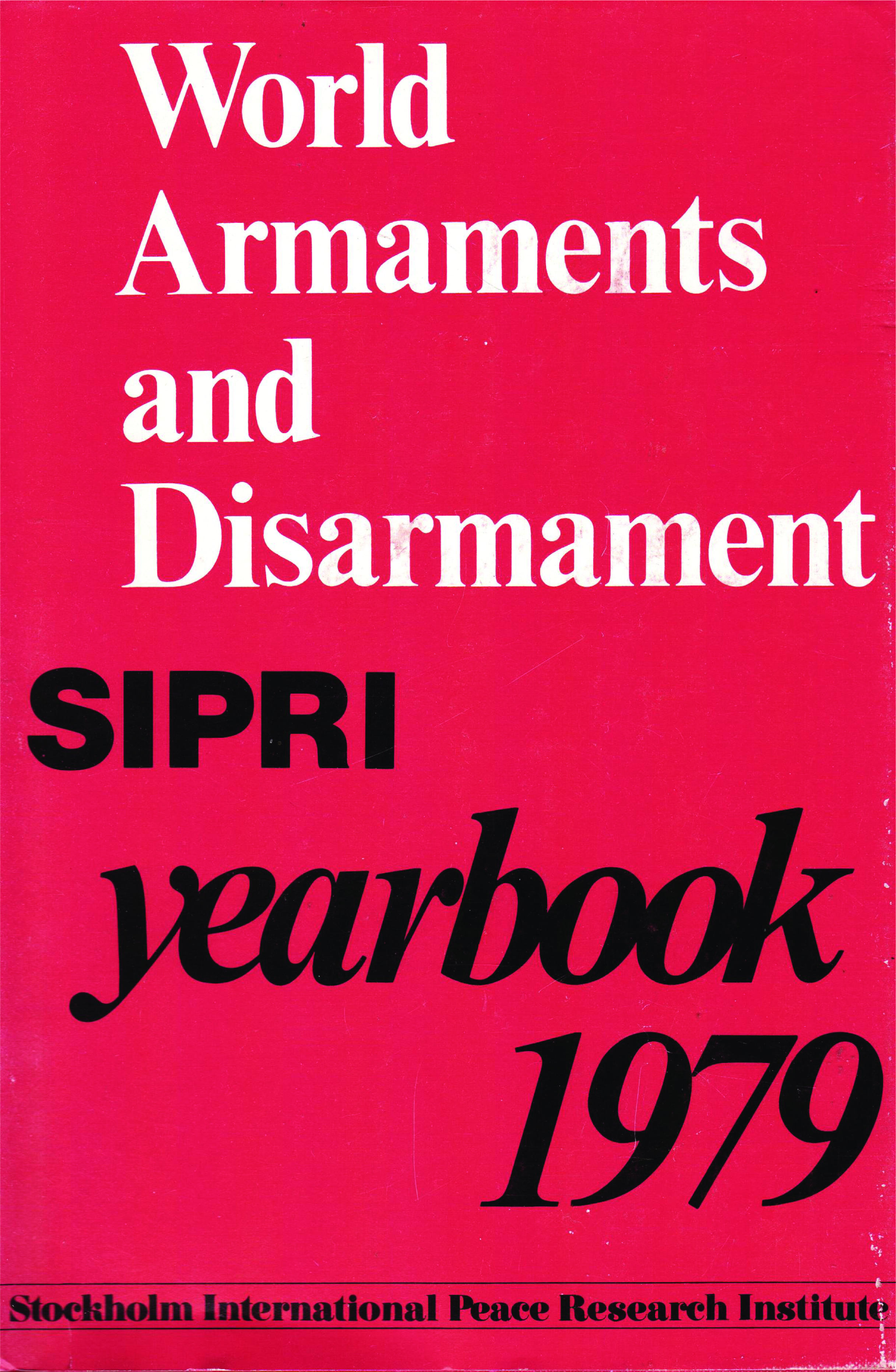 SIPRI yearbook 1979 cover