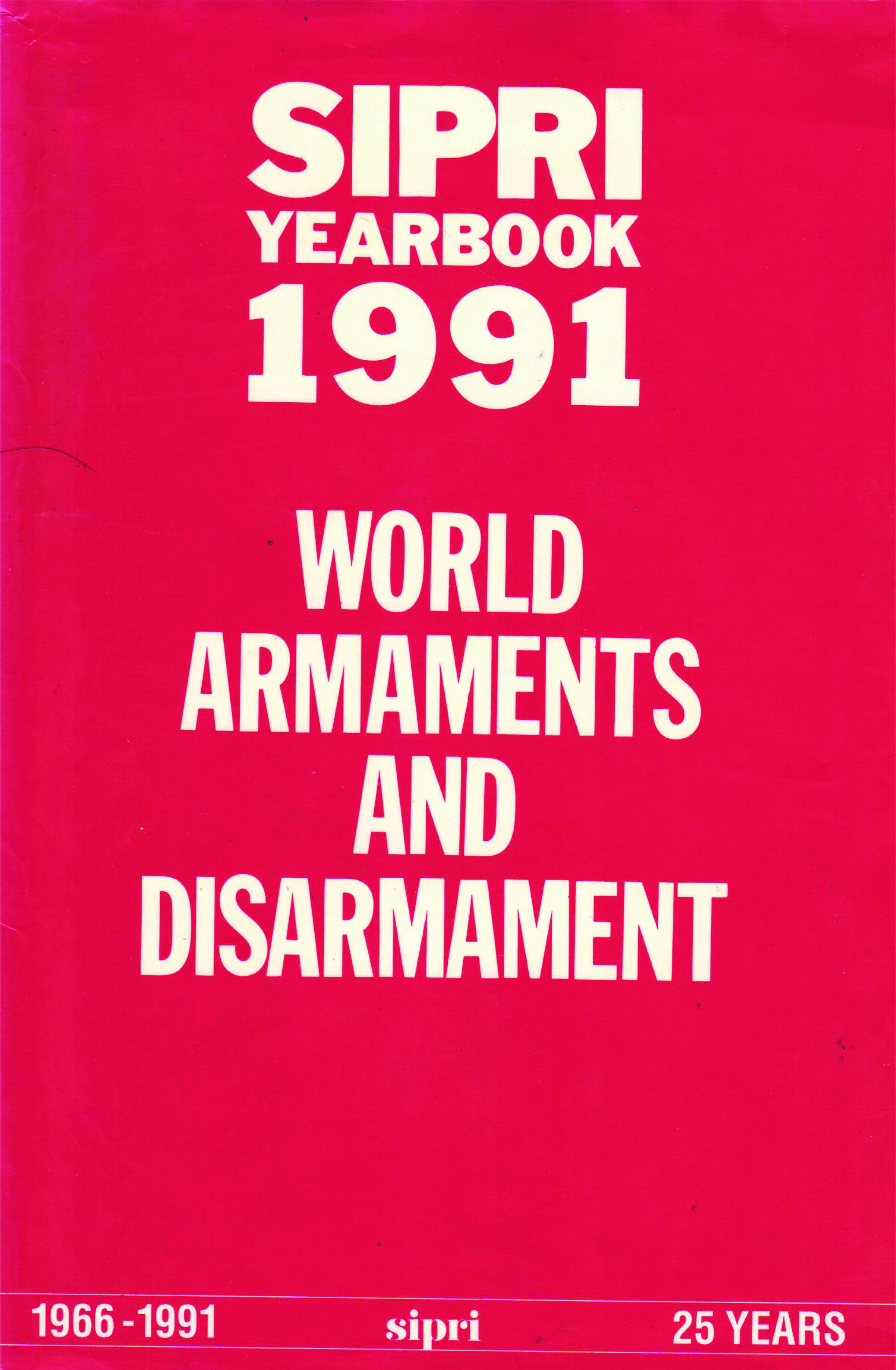 SIPRI yearbook 1991 cover