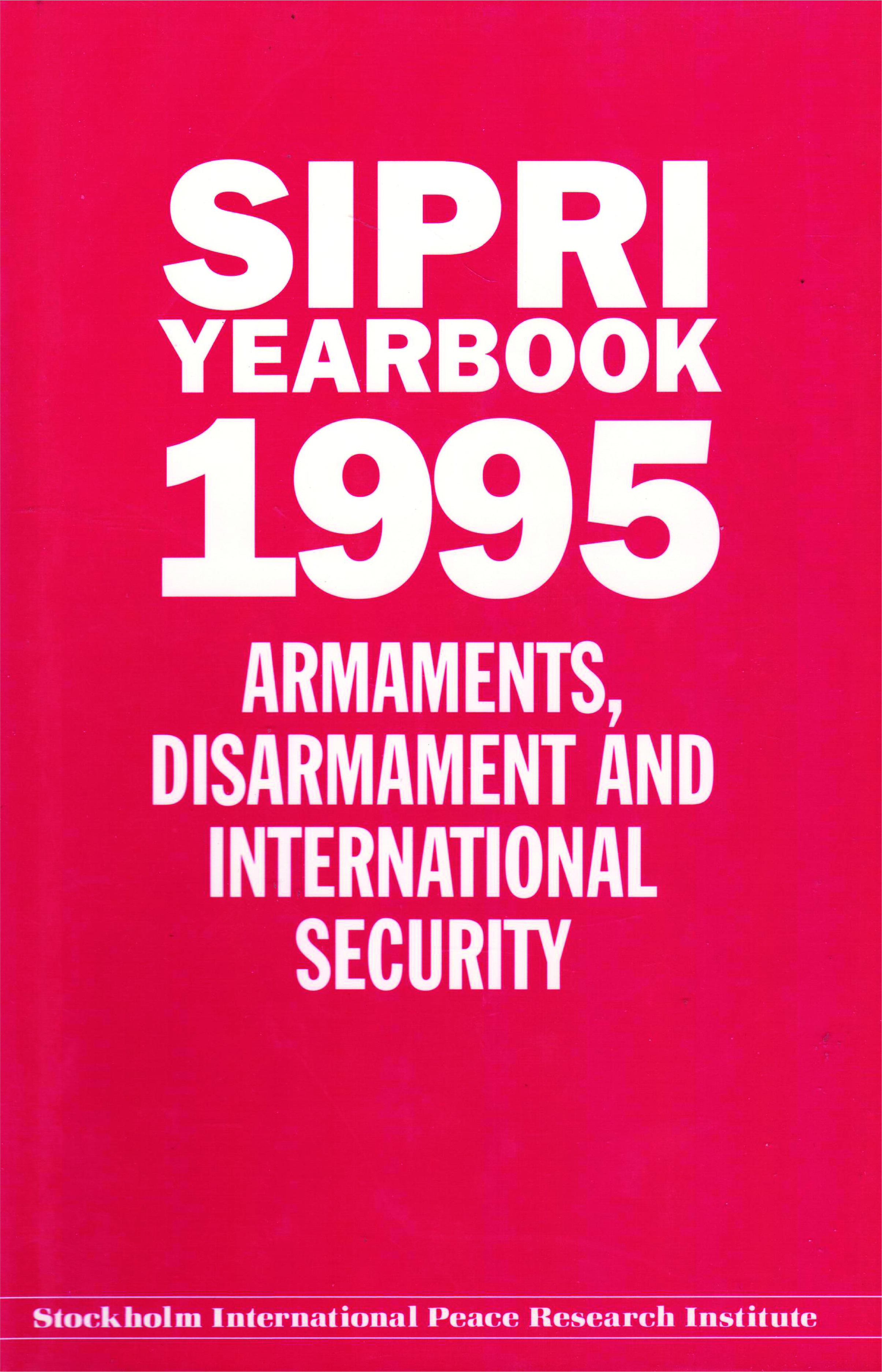 SIPRI yearbook 1995 cover