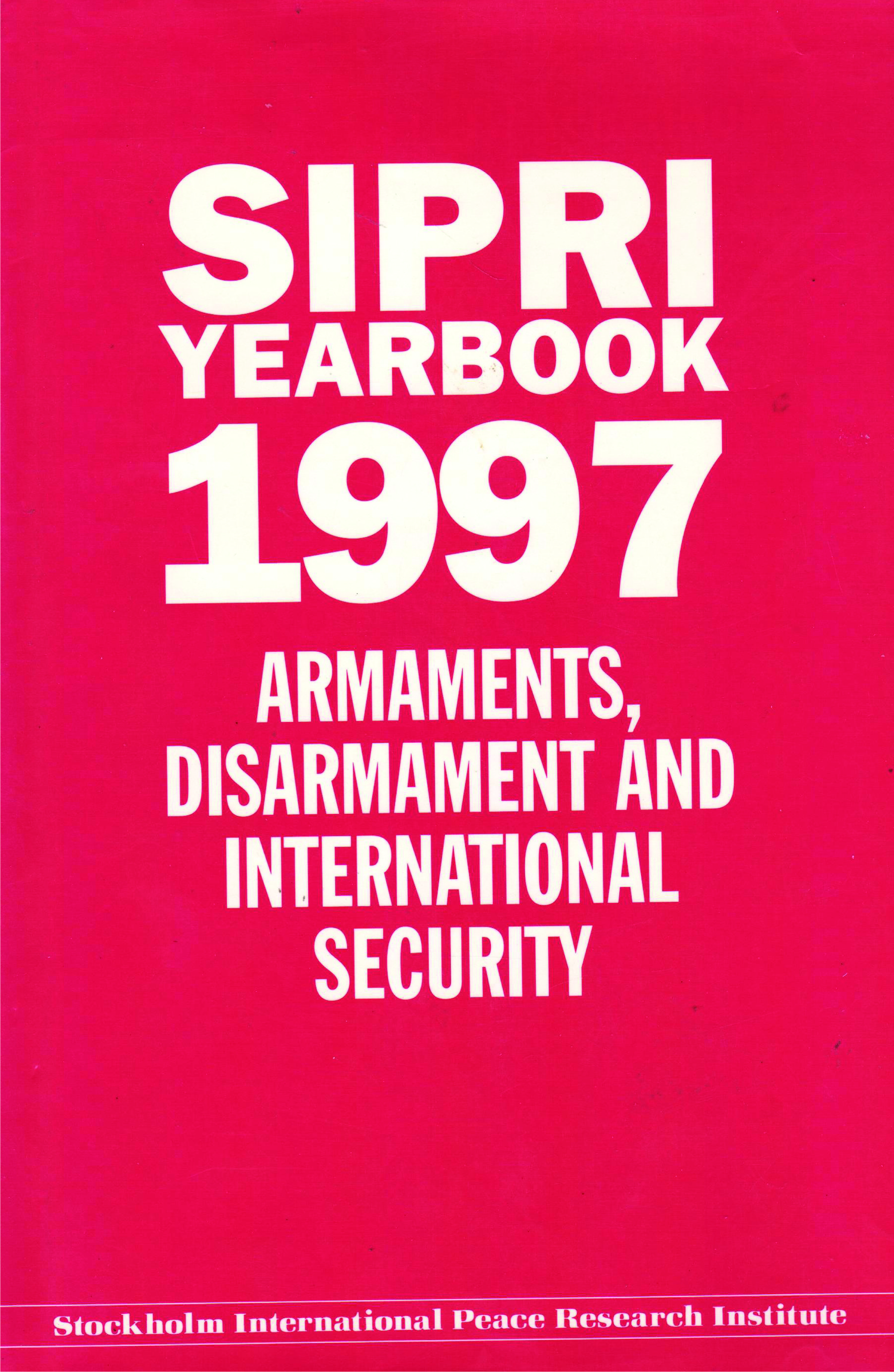 SIPRI yearbook 1997 cover