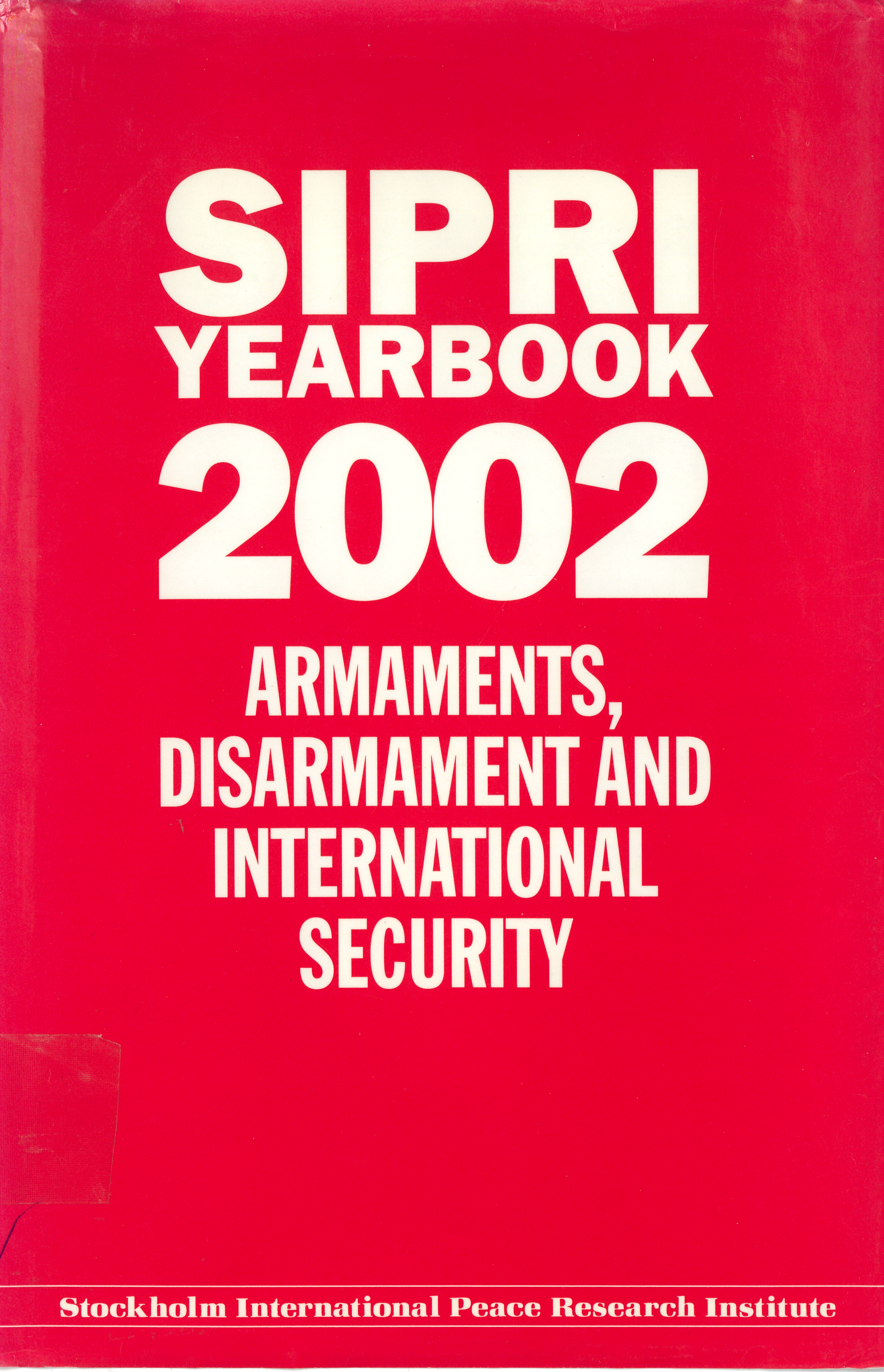 SIPRI Yearbook 2002 cover