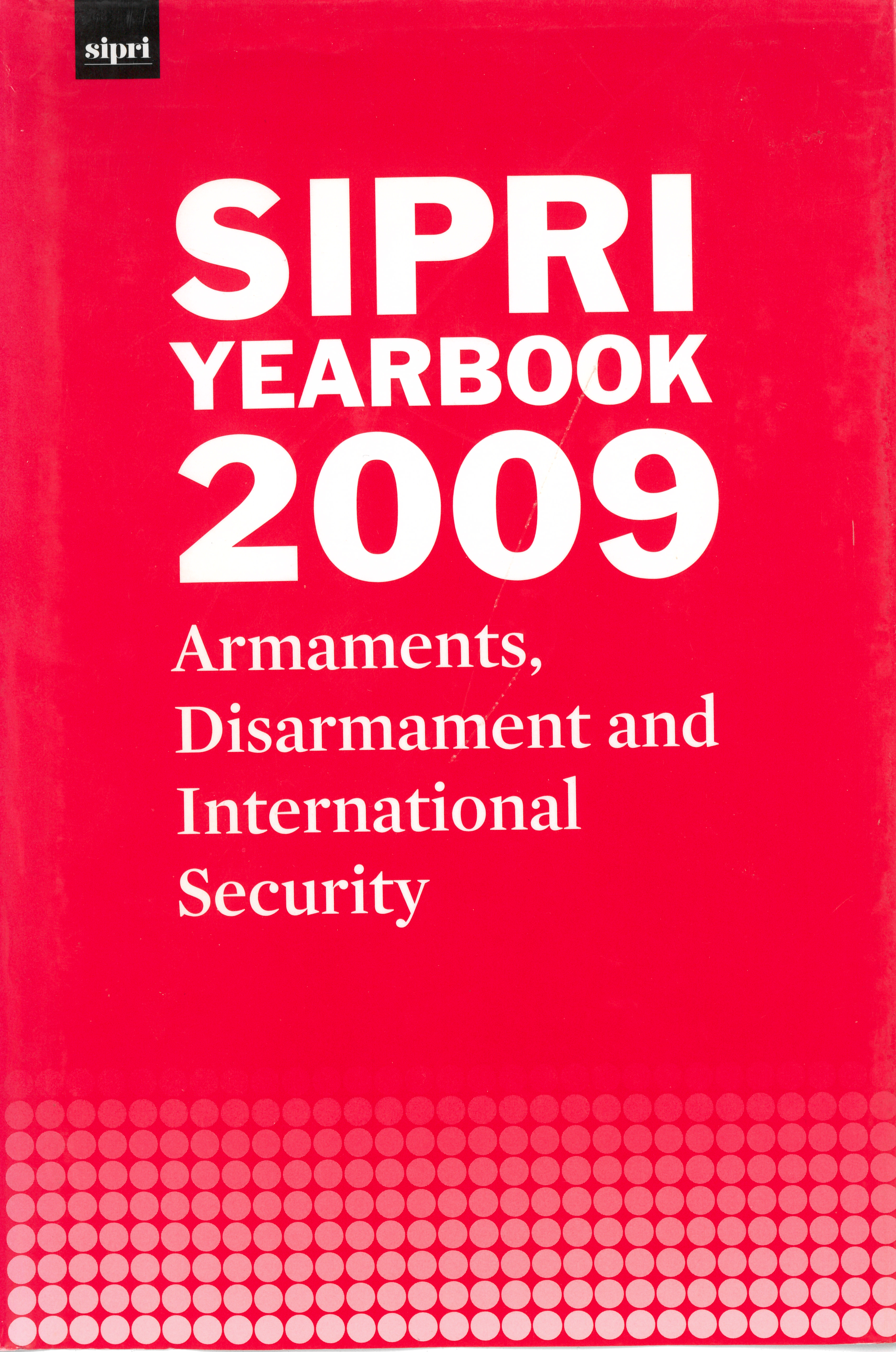 SIPRI yearbook 2009 cover