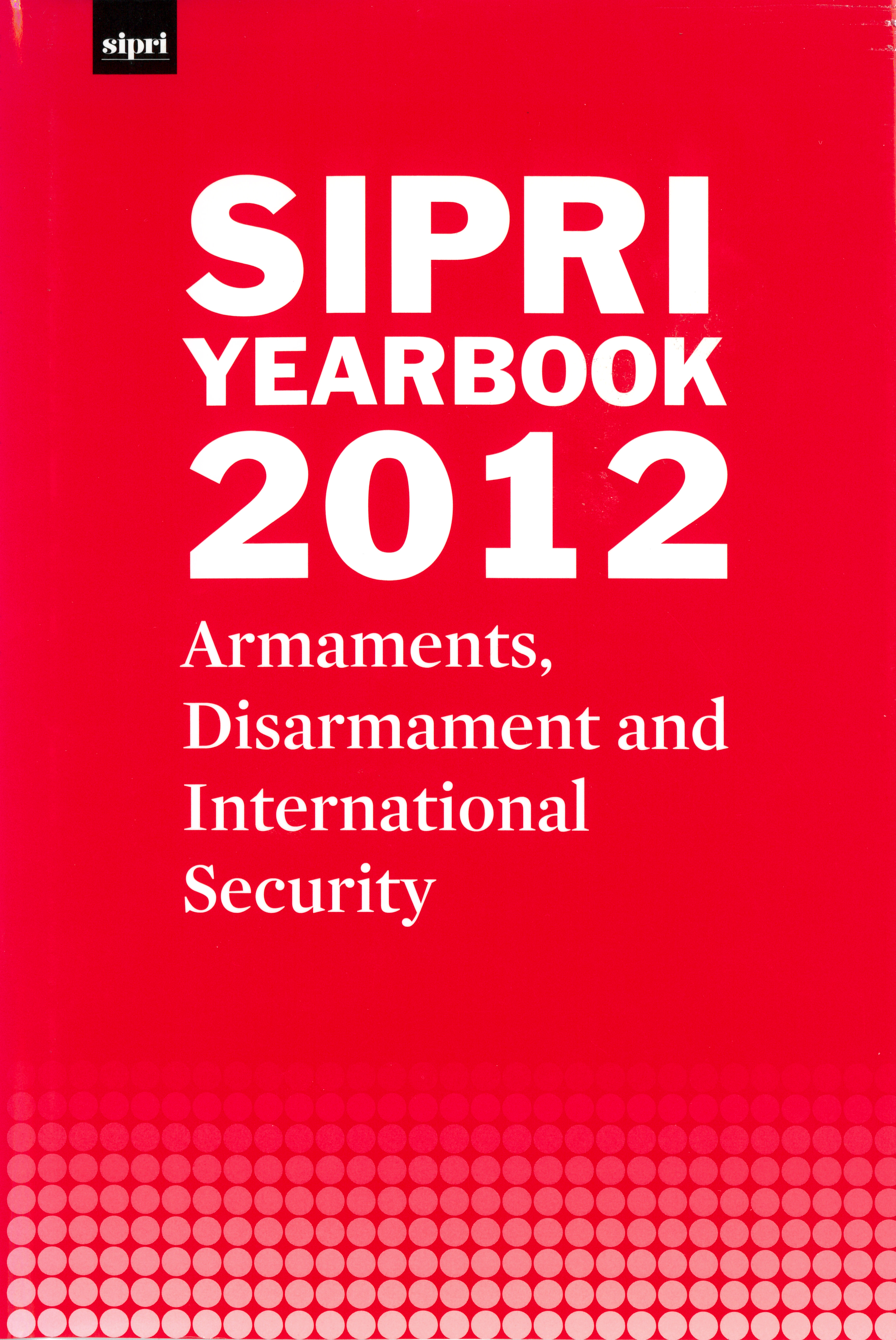 SIPRI yearbook 2012 cover