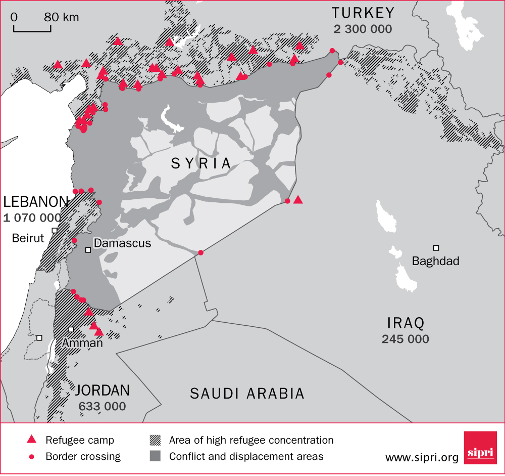 Syrian refugees in neighbouring countries