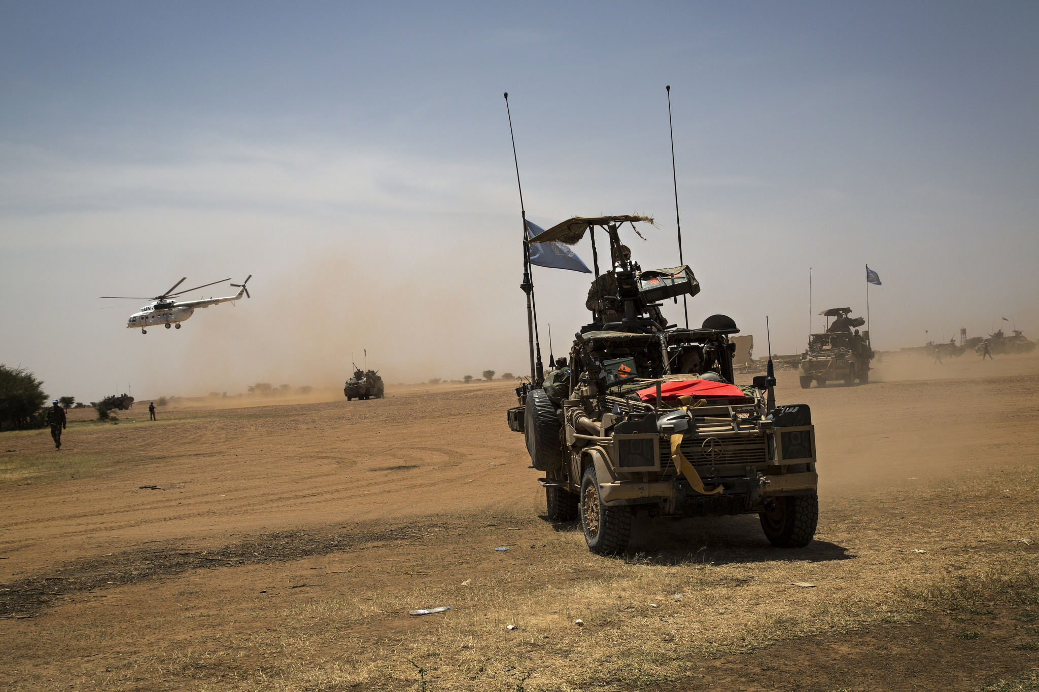 MINUSMA Force Commander Visits Anefis in Northern Mali. Photo: United Nations