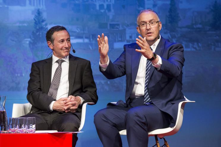 Robert Glasser, Special Representative of the UN Secretary-General for Disaster Risk Reduction and Ahmed Aboutaleb, Mayor of Rotterdam