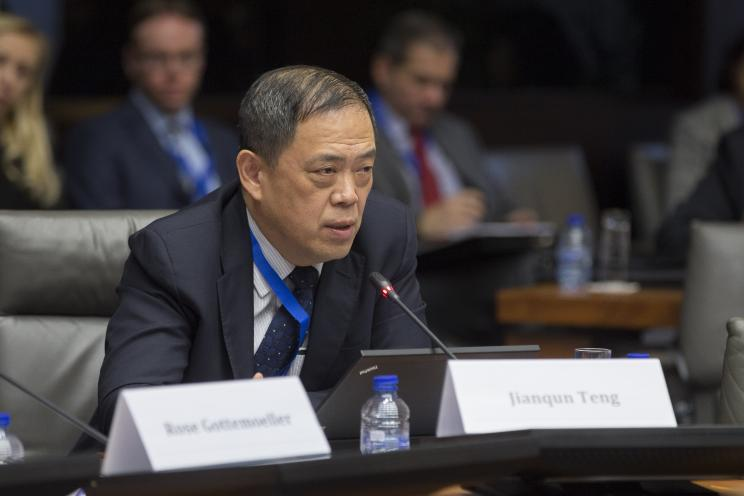 Jianqun Teng, Director, Department of American Studies, China Institute of International Studies. Photo: Erik Luntang