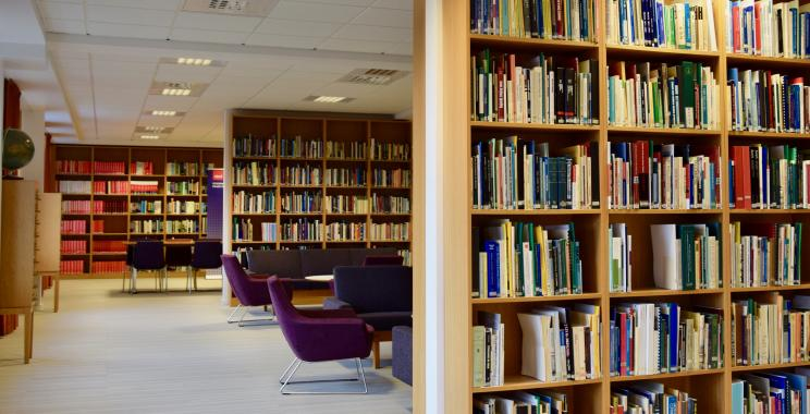 Library Interior Study Space