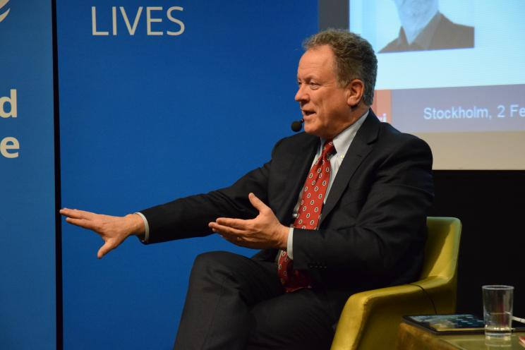 David Beasley, Executive Director of WFP speaking at the event 'Hunger, food security, stability and peace'