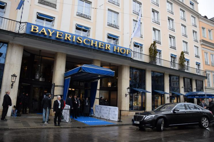 The Munich Security Conference venue, Hotel Bayerischer Hof