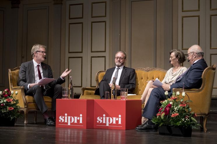 Distinguished panel discussion with Dr Katarina Engberg, Director of the Swedish Government Offices, Mats Karlsson, Director of the Swedish Institute for International Affairs, HE Dr Hans Blix and by Dan Smith, SIPRI Director