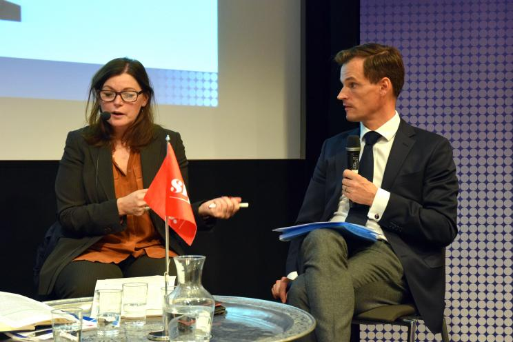 Beverley Warmington, Director of Conflict, Humanitarian and Security Division, Department for International Development, United Kingdom and Johannes Oljelund, Director-General for International Development Cooperation, Swedish Ministry for Foreign Affairs