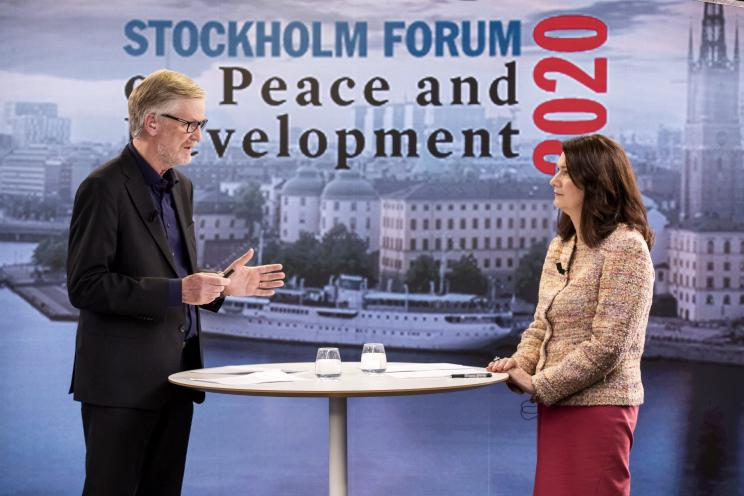 Dan Smith, SIPRI Director and Ann Linde, Minister for Foreign Affairs of Sweden