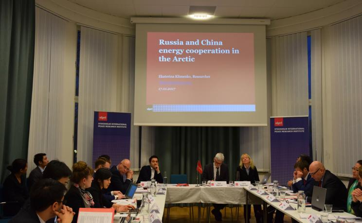 Ekaterina Klimenko, SIPRI Researcher, speaks about Russia and China energy cooperation in the Arctic