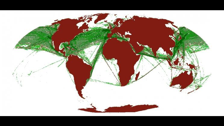 maritime transport - world map