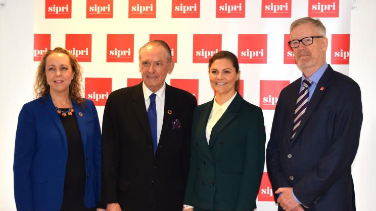 SIPRI hosts Her Royal Highness Crown Princess Victoria