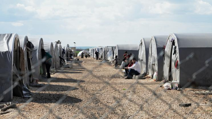 Refugee camp in Suruc, Turkey