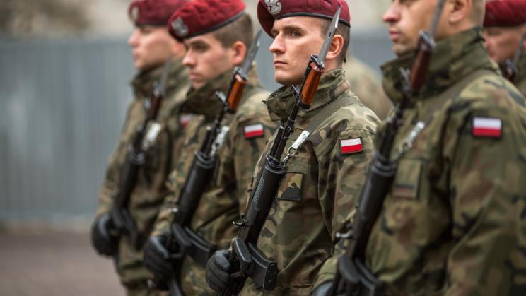 Soliders during Poland's National Independence Day in November 2015