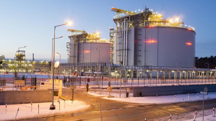 LNG terminal in Swinoujscie, Poland