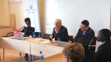 Stephanie Blenckner / Roundtable discussion at the Swedish Embassy in Addis Ababa