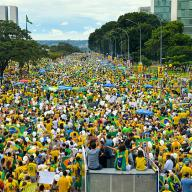 Protesters in Brazil denounce corruption and call for the departure of President Dilma Rousseff, March 2016