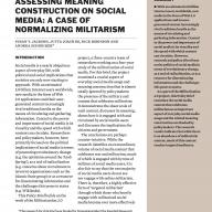 Assessing meaning construction on social media: A case of normalizing militarism
