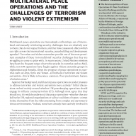 Cover image of Multilateral peace operations and the challenges of terrorism and violent extremism