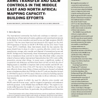 Arms transfer and SALW controls in the Middle East and North Africa: Mapping capacity-building efforts