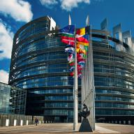 Exterior of the European Parliament in Strasbourg, France
