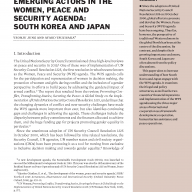 Emerging actors in the Women, Peace and Security Agenda: South Korea and Japan