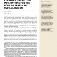 Cover Ethiopia's Transition: Implications for the Horn of Africa and Red Sea Region