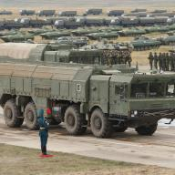 Iskander launcher on display during the Vostok-2018 exercise with Russian and Chinese troops.
