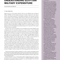 Understanding Egyptian Military Expenditure