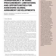 Transparency in Arms Procurement: Limitations and Opportunities for Assessing Global Armament Developments