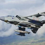 RAF Tornado aircraft training in England