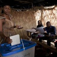 Malians voted in the first round of the 2013 presidential elections at the Ecole de la République in Bamako.