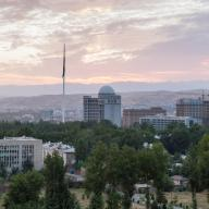 View over Dushanbe, the capital city of Tajikistan