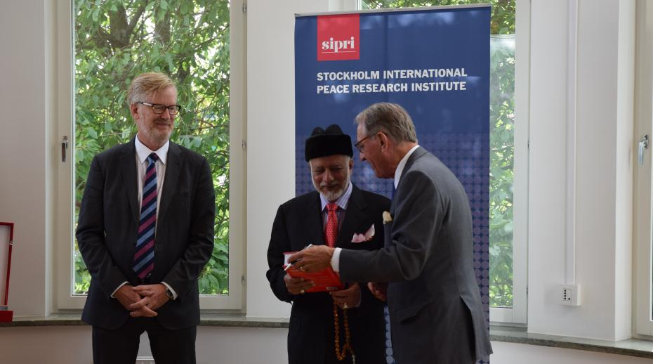 SIPRI hosts Oman's foreign minister