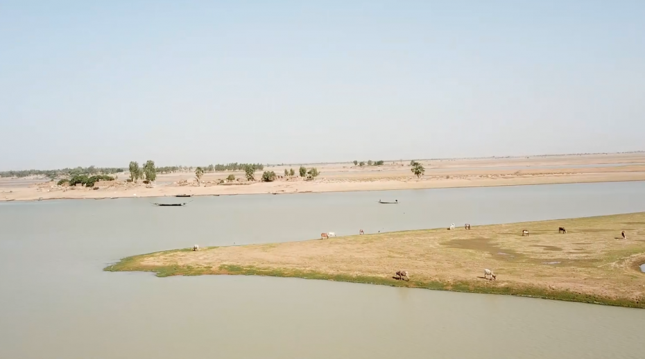 Niger River in central Mali, still image from film.