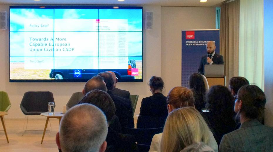 SIPRI hosts launch event on the Civilian CSDP Compact in Brussels