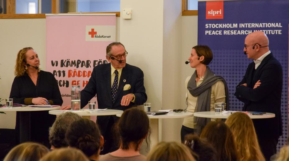 SIPRI co-hosts event on global humanitarian challenges