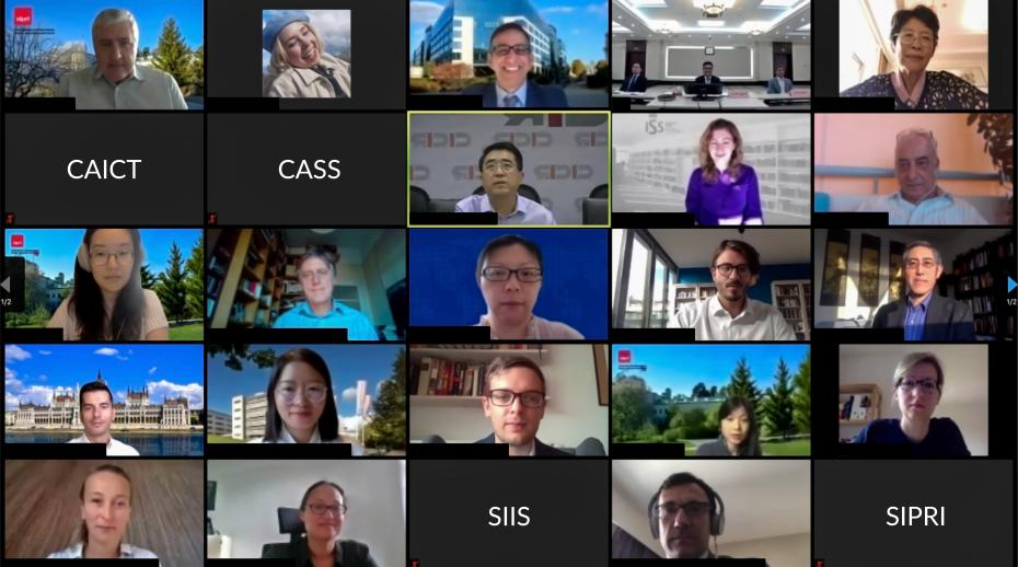 Participants at the webinar series on EU-China Relations and Connectivity.