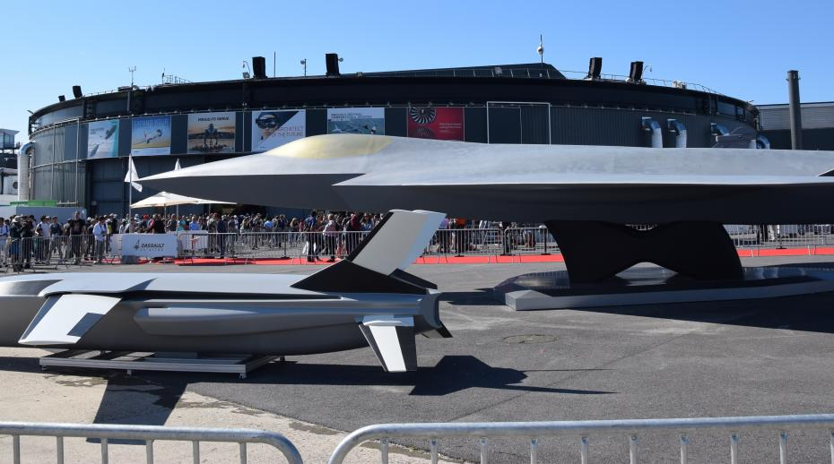 Franco–German Future Combat Air System New Generation Fighter mock-up at the Paris Air Show, 2019